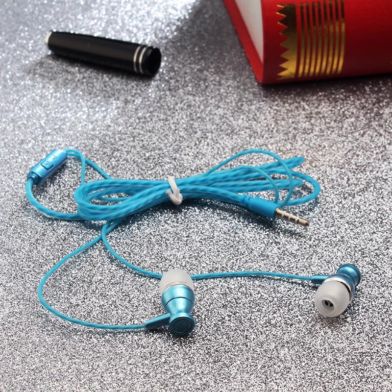 Original 3.5mm de metal de ouvido fones de ouvido com fio de alta fidelidade forte baixo fone de ouvido com microfone para iphone sumsung fone de ouvido venda quente