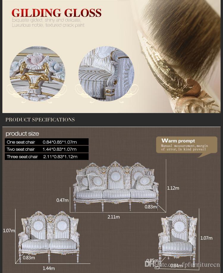 أثاث من الطراز الباروكي العتيق - مجموعة غرفة المعيشة الكلاسيكية من طراز روكوكو