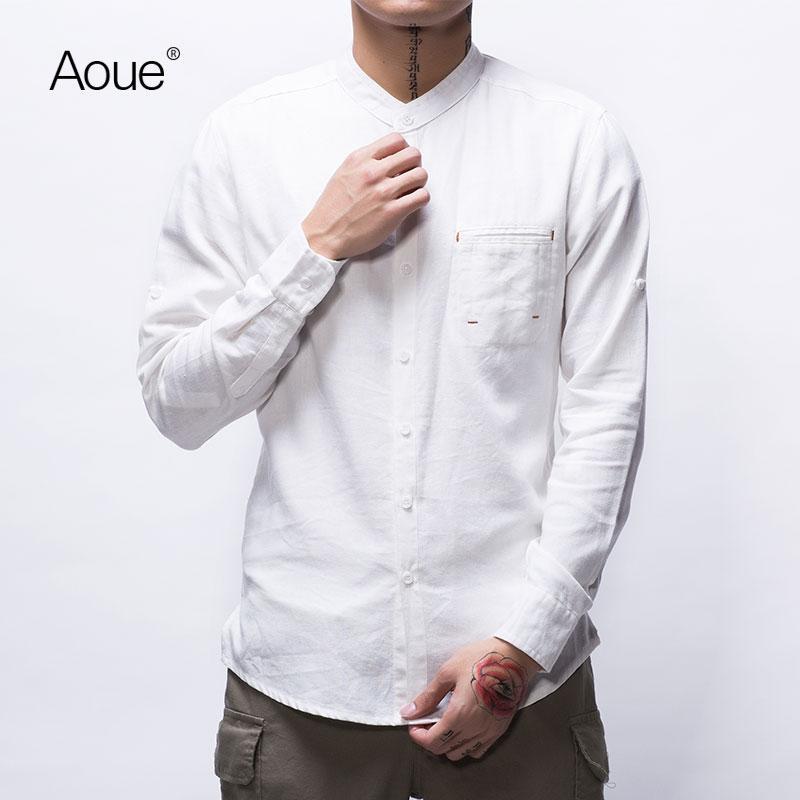 wholesale- aoue men plus size 4xl luxury brand styles slim shirt