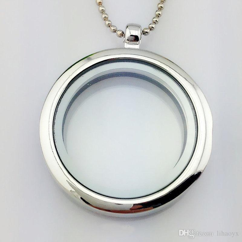 30mm medalhão flutuante jóias DIY molduras de vidro transparente flutuante charme medalhões pingentes ak029