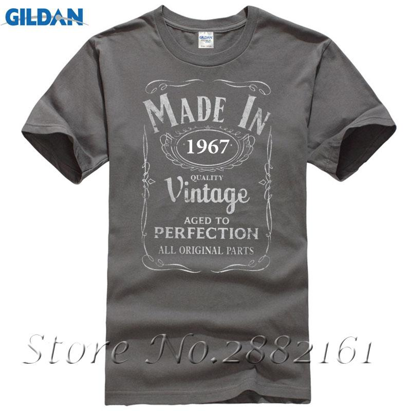 Made In 1967 T Shirt 50th Year Birthday Age Gift Vintage Born Present Men Women O Neck Shirts Male Low Price Steampunk Designable Buy Funny