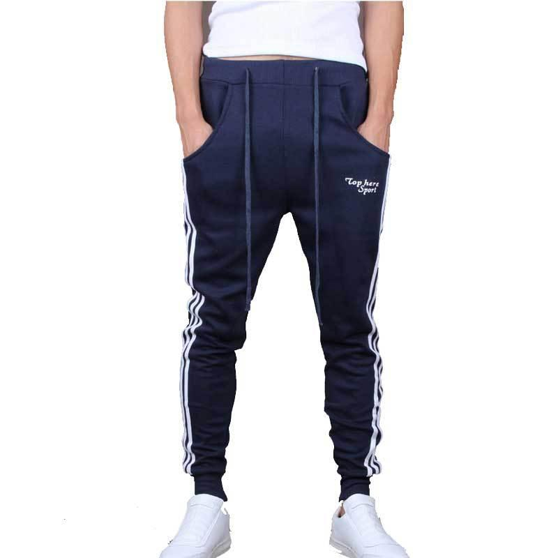 a1136f83 Wholesale-Mens Joggers New Fashion Casual Skinny Sweat Pants Male ...