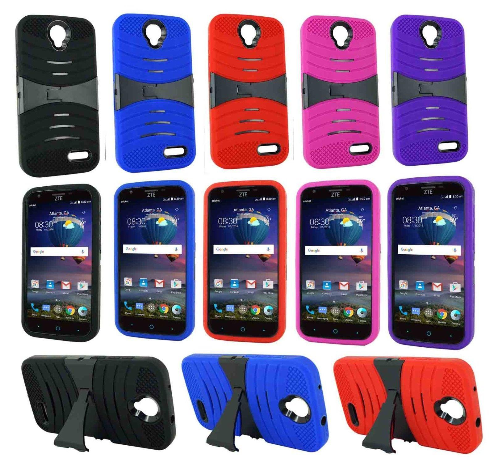 newest 082a6 d4859 Hot Sale PC Silicone Soft Rugged Case Hybrid Kickstand Armor Cases Phone  Cover for ZTE Sonata 3 Z831 Z832 ZTE Grand X3 Z959