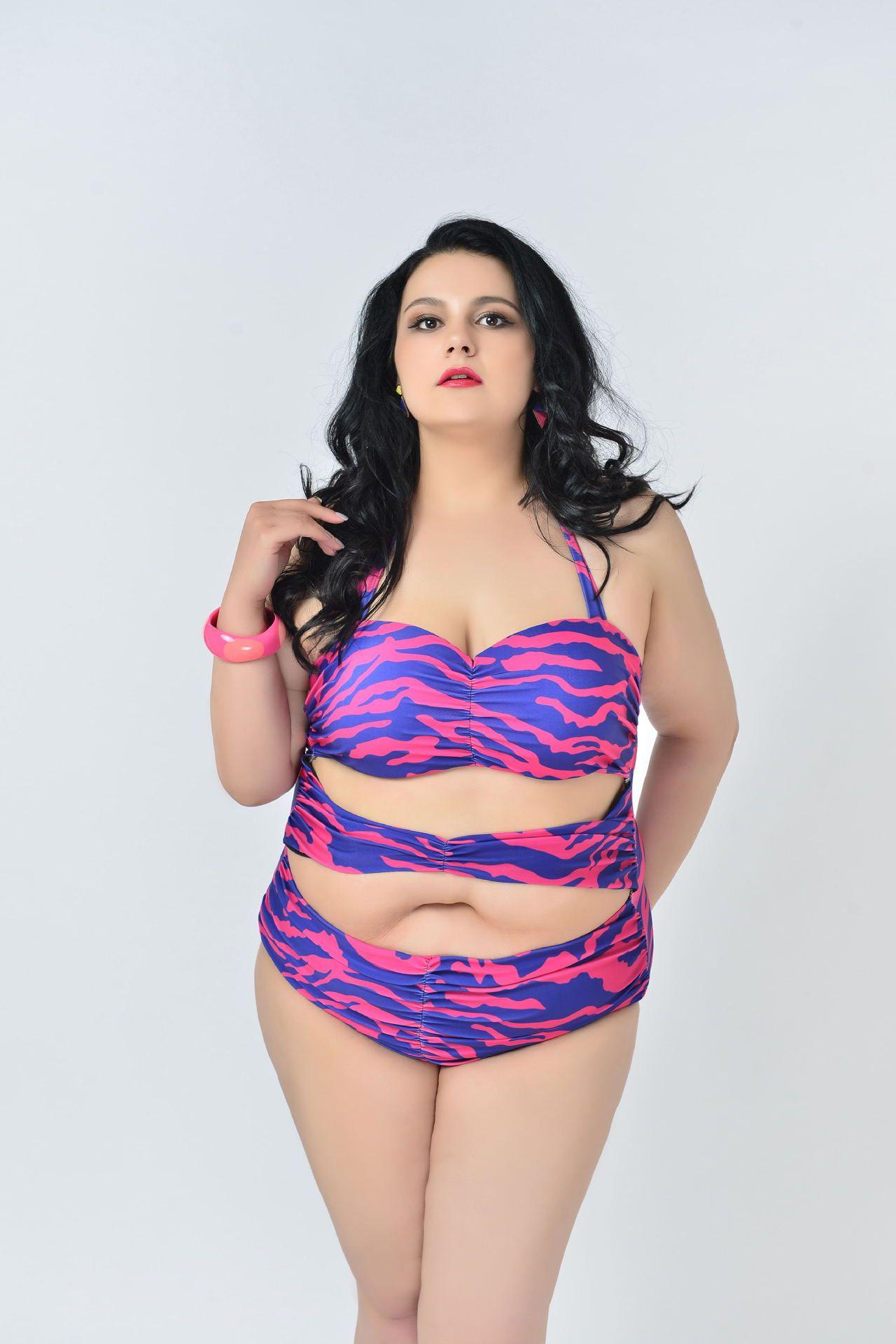 Bikini plus size swimsuit woman