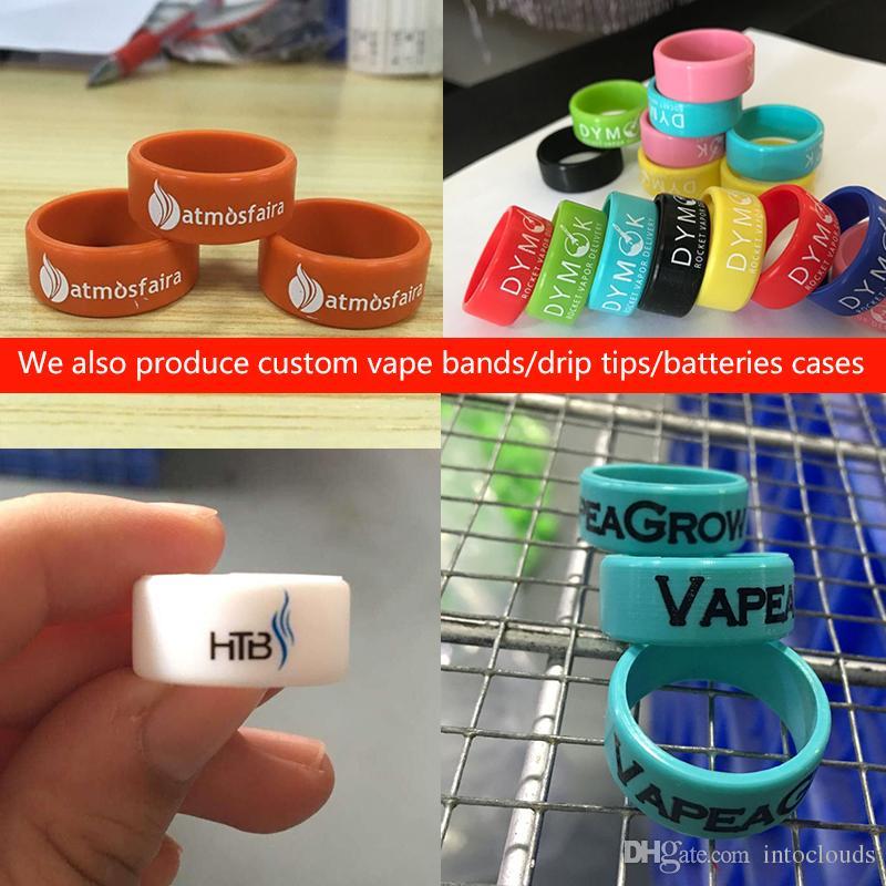 Özel silikon 18650 piller durumlarda baskı logo kauçuk piller üzerinde metin veya web sitesi ile kapakları