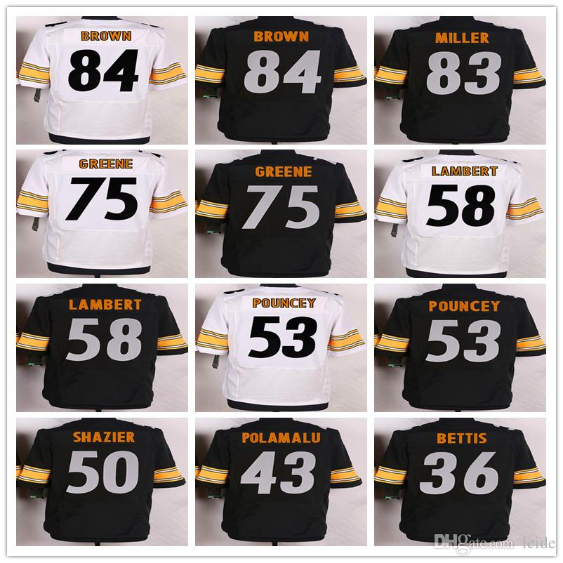 f7210e29a ... 2017 Draft Pick White Black Yellow 90 T.J. Watt Jersey 30 James Conner  11 Joshua Dobbs Pittsburgh Steelers ...