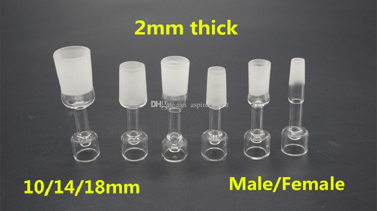 Female Male Joint Domeless Quartz Banger Nails Wholesale 2mm Thick 10mm 14mm 18mm Domeless Quartz Club Bangers Beautiful Nice Hit Free Ship