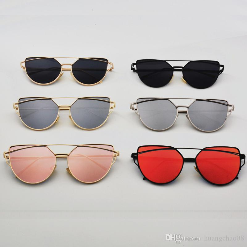 Großhandel Flach Lense Frauen Cat Eye Sonnenbrille Klassische Marke ...