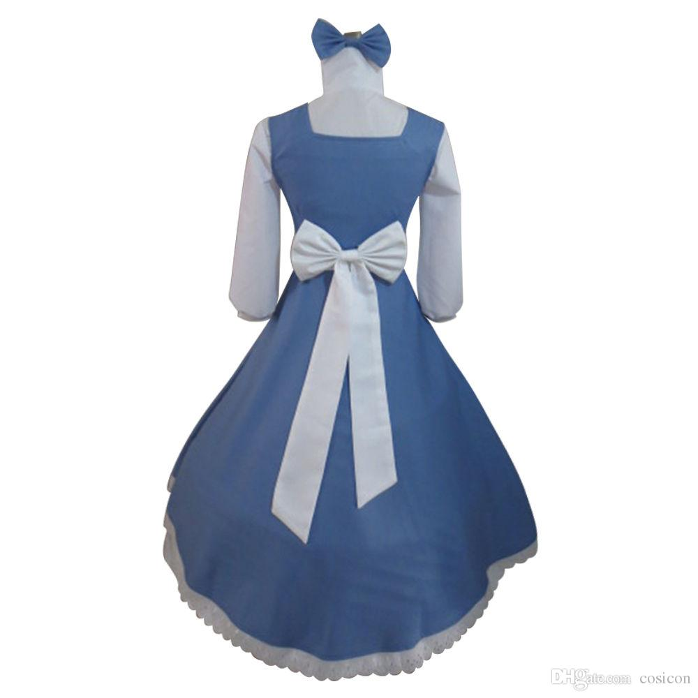 adult belle and beast live belle maid fancy dress lolita dress cosplay costume halloween and christmas party cosplay costumes halloween costumes for adults