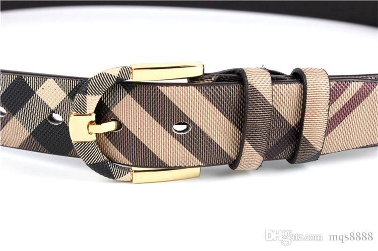Moda salvaje raya hombres mujeres cinturón de cuero real diseñador de alta calidad cinturones de cintura de metal Pin hebilla correa