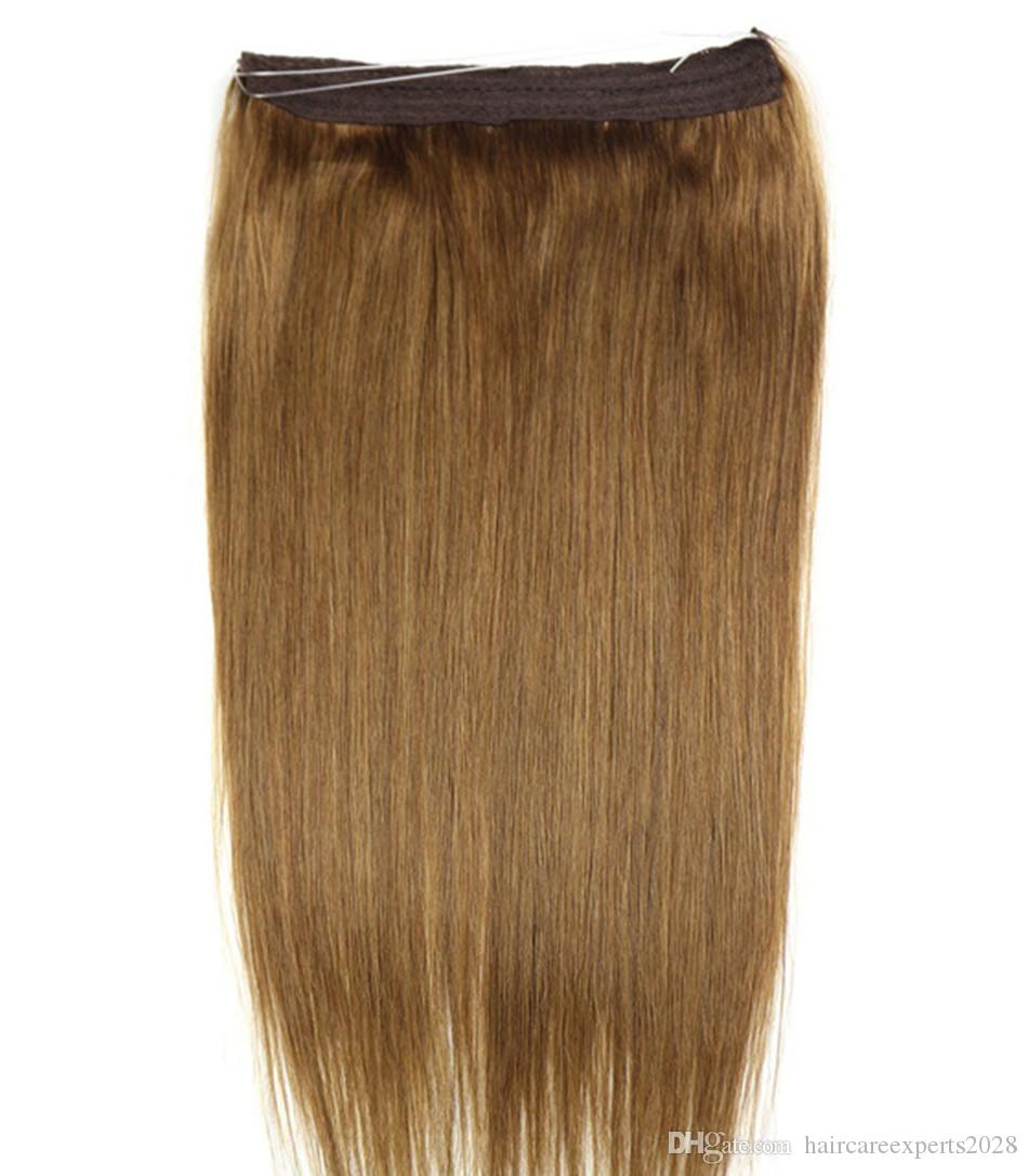 Elibess Hair 16 28 Non Remy Halo Hair Flip In Human Hair Extensions