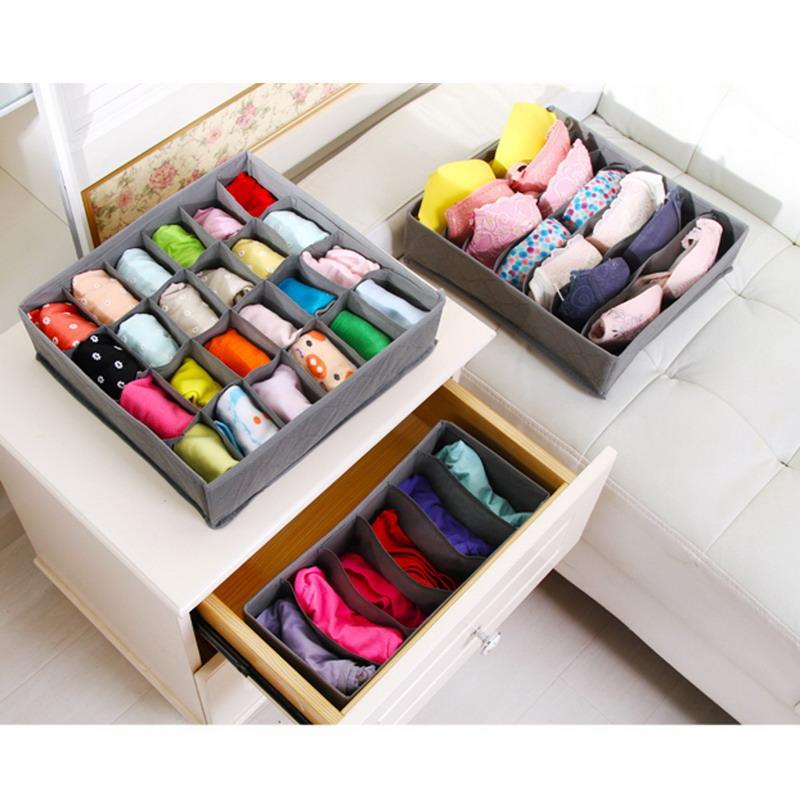 Delicieux Best 3 In 1 Underwear Storage Box For Ties Socks Shorts Bra Underwear  Organizer Divider Drawer Lidded Closet Organizer Under $10.94 | Dhgate.Com