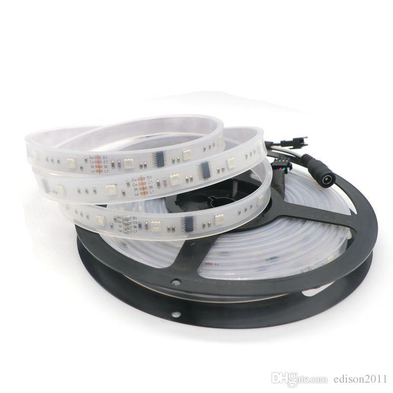 Edison2011 Magic LED Strip Dream Color 6803 IC 5050 RGB DC12V Light 150 LEDS 5M Impermeable es con controlador + 5A Power Suply