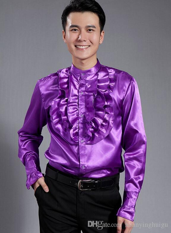 Großhandel Männer Mode Luxus Stilvolle Lässige Designer Kleid Hemd Kultivieren Die Moral Langarm Hemd CS20