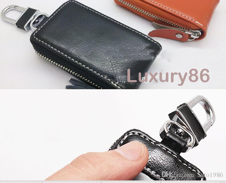 auto truck vehicle Black PU Leather auto car Remote Key Bag Case Holder Cover for BMW VW