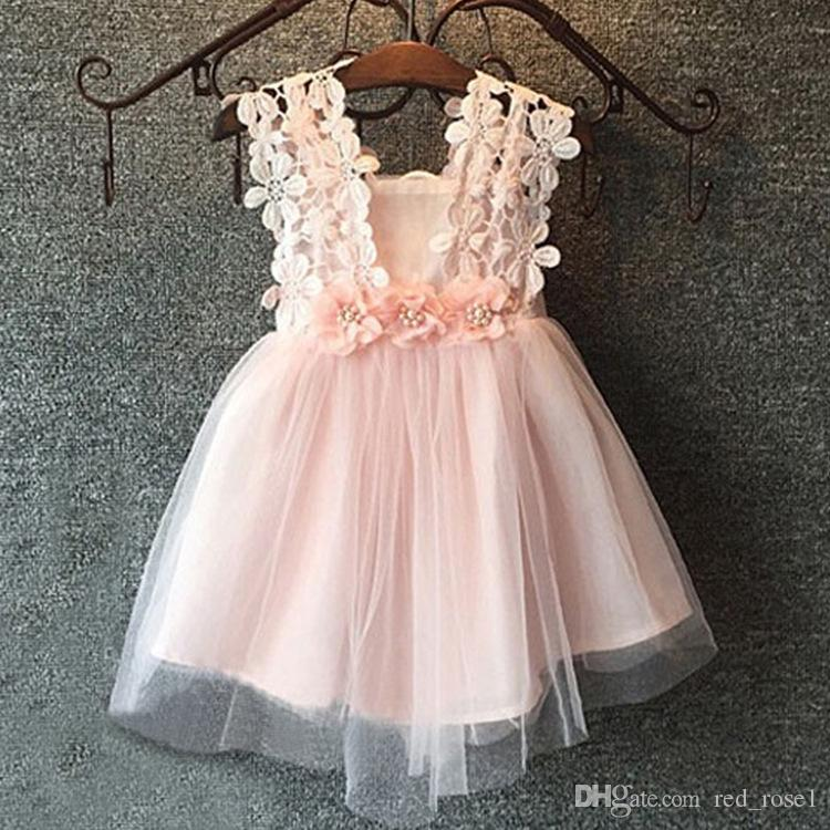 2017 Baby Girls Clothes Lace Tutu Dresses Childrens Prubcess ...