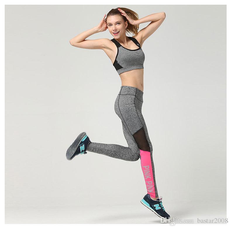 Pro Mujeres Cintura alta Elástica Deporte Pantalones largos Fitness Jovencita Gimnasio y yoga Fitness Fitness Correr Legging apretado