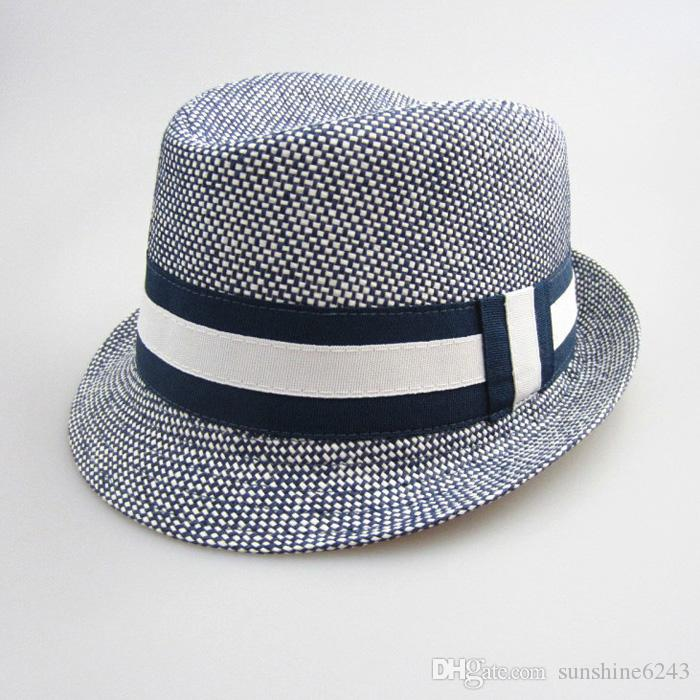 2016 New Fashion Kids Boy Girl Unisex Fedora Hats Cap for Children Contrast Trim Cool Jazz Trilby Sombreros