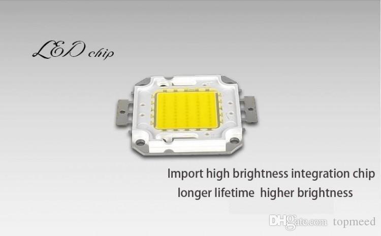 أدى الأضواء الكاشفة DHL IP65 للماء 50W في الهواء الطلق مشروع مصباح LED الأضواء الكاشفة إضاءة الأضواء الكاشفة COB رقاقة 85-265V سوبر برايت مصباح 666 6
