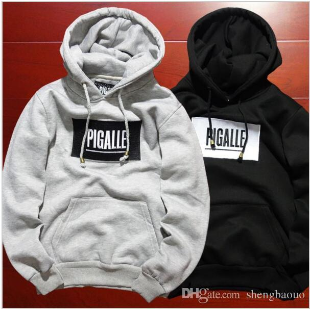 ... Hip Hop Streetwear Brand Name Mens Clothing Korean Couple Kpop Clothes  S Xl Fleece Black Hoodie Asap Rocky Box Logo Pigalle By Shengbaouo | Dhgate .Com