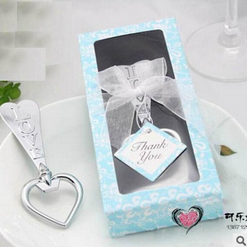 Kostenloser versand edelstahl Liebe Herzförmigen Flaschenöffner Hochzeit Gunsten Parteibevorzugung Geschenk Weihnachten Küchenhelfer