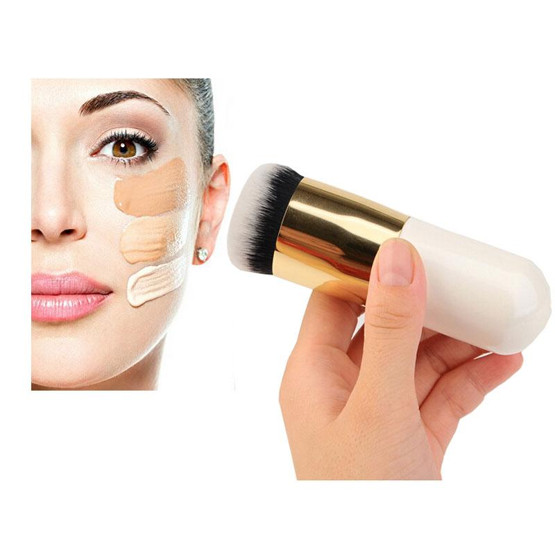 Flat Kabuki Liquid Foundation Makeup Brushes Concealer Facial Blush Brush Round Face Powder Make ...