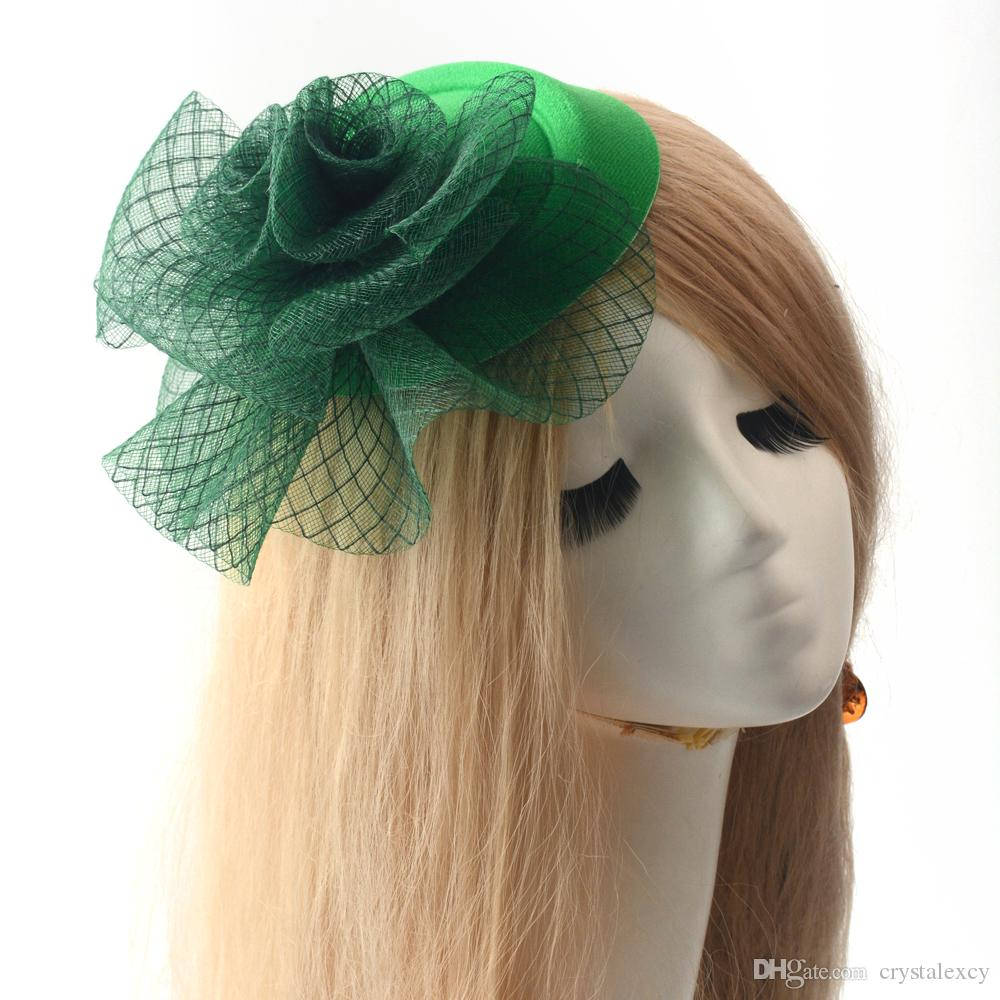 Green Pillbox Hat Party Cocktail Women Lady Fascinator Wedding Netting Hair  Clip Handmade Fashion Brand New GIft Hair Clip Fascinator Pillbox Hat  Online ... 2c3d35c74ae