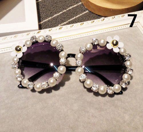 DIY 꽃 무늬 안경 여성 선글라스 선글라스 DIY 꽃 무늬 안경 여성 선글라스 GIRL 야외 선글라스 장미 꽃 무늬 태양 안경 선글라스
