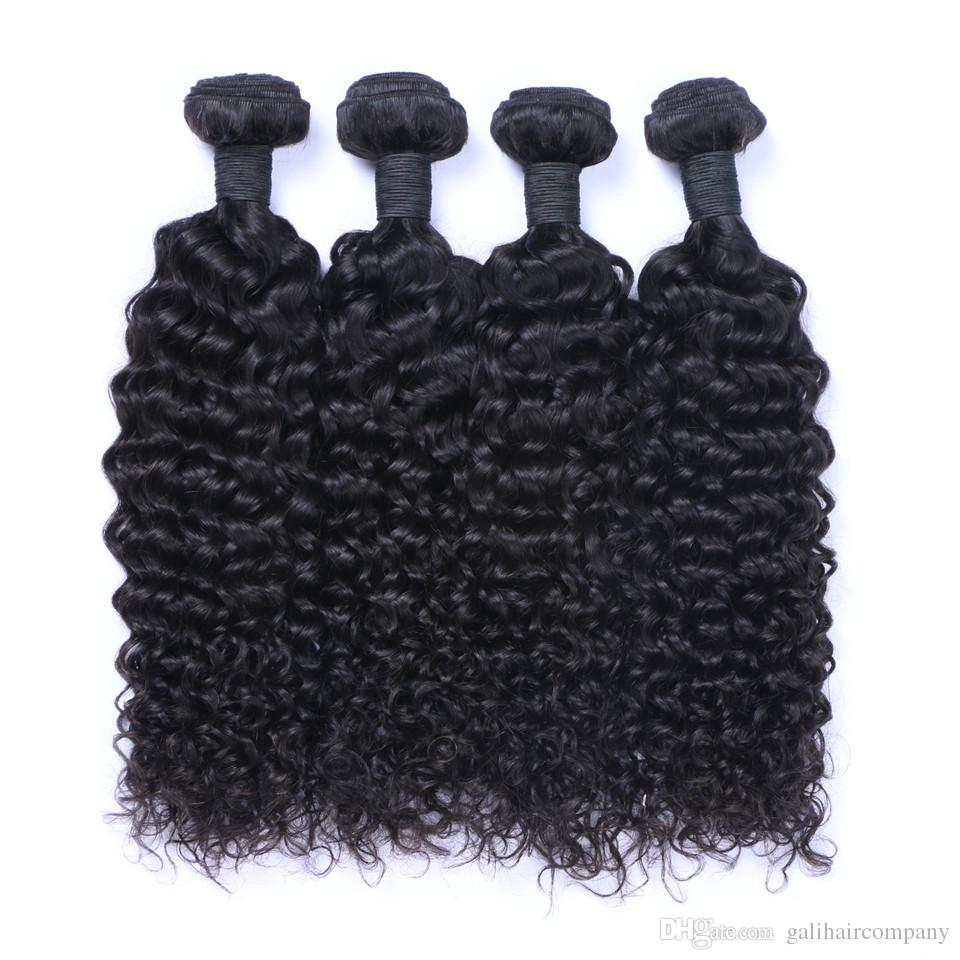 8A High Quality Peruvian Jerry Curly Unprocessed Human Hair Extensions 8-30inch Natural Black Color Soft Full Dyeable