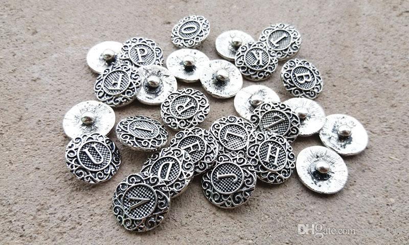 iniziale A-Z alfabeto lettera Noosa pezzo metallo lega di zenzero bottoni a pressione lo zenzero bracciale gioielli fai da te