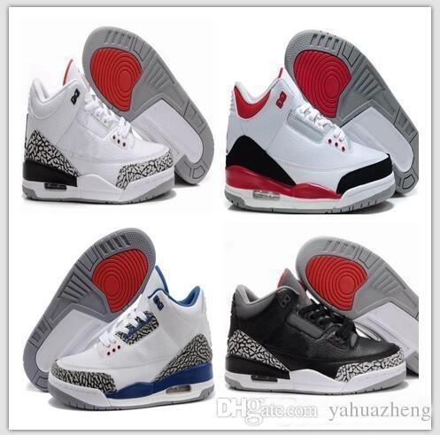 brand new b9148 d702d ... 3 3 S Iii Weiß Zement Schwarz Wolf 2018 Grau Metallic Großhandel Männer  Basketball Schuhe Sneaker Eur 41 47 Kostenloser Versand Nike Air Jordan  Retro ...