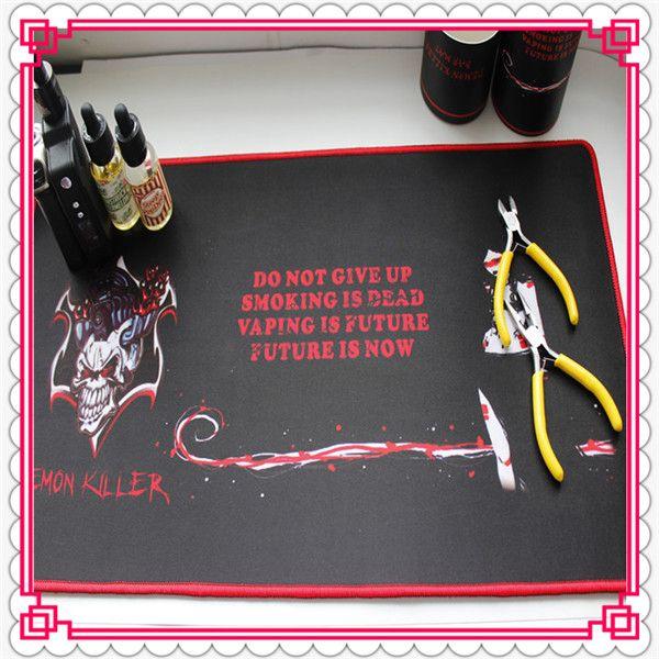 Assassino do demônio Bar Mat 60 * 30 * 0.3 CM Retângulo Eletrônico Cigarro Bar Pad Borracha Natural + Multi-spandex Alta qualidade DHL Livre