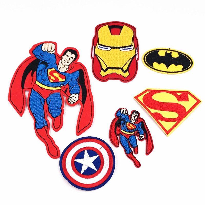 6pcs bat man logo super heros avengers ironman super man