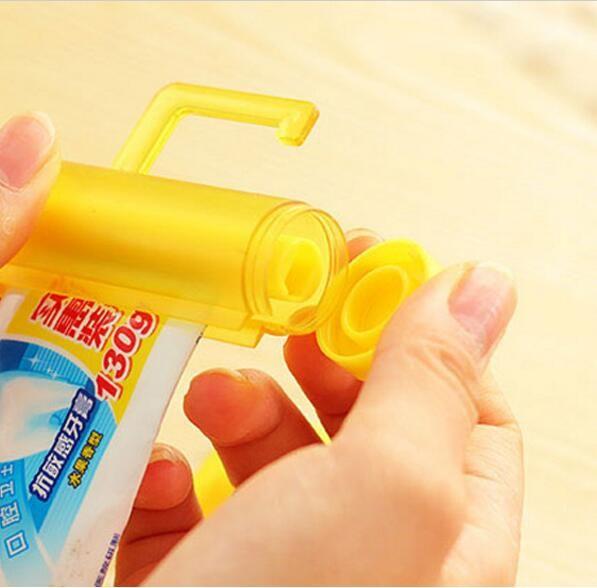 Новая красочная пластиковая трубка 5 цветная зубная паста Squeezer Dispenser Держатель крюк Держатель присоски висит стена ванной