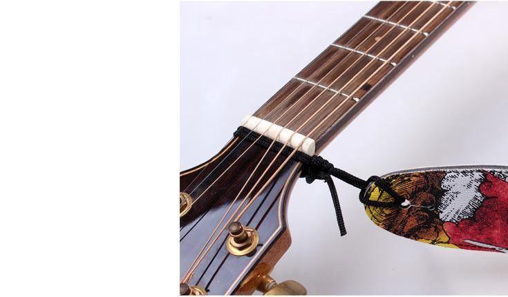zwei Farben Straps E-Gitarrengurt Akustikgitarre Bassgitarren-Gitarre Teile Musikinstrumente Zubehör