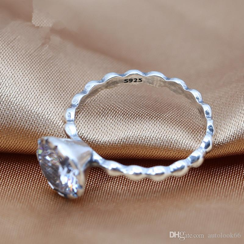 2016 charms rings s925 ale sterling silver simple diamond style band rings with rings wholesales hot sales