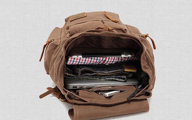 Bolso casual del ocio de los estudiantes de la mochila de la computadora del bolso de la manera del bolso de la lona del comercio exterior Correa de hombro ajustable. Hebilla de metal de alta calidad.