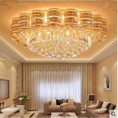 2018 led european crystal ceiling lights sitting room light modern see larger image mozeypictures Choice Image