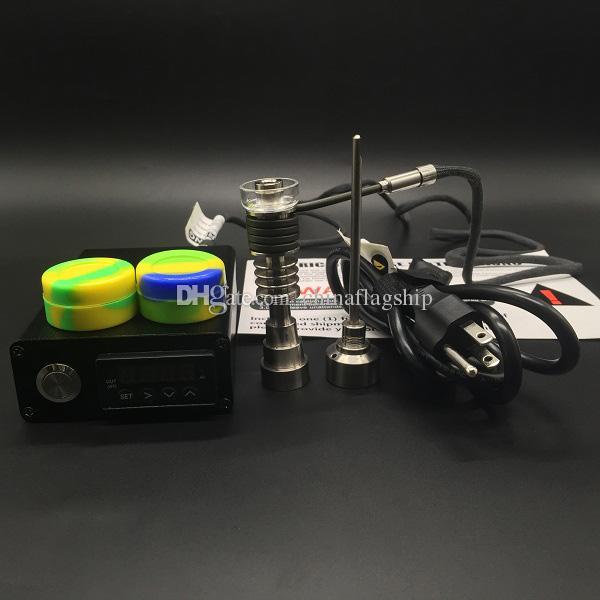 2016 Nueva llegada E Digital Nail Kit con actualización Titanium / Quartz Hybrid Nail Fit plana 10mm / 16mm / 20mm calentador bobina de hierbas secas