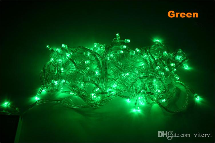 US EU plug 10M 20M 30M 50M 100M Xmas LED String light 110V 220V IPRGB Christmas String Light outdoor indoor waterproof