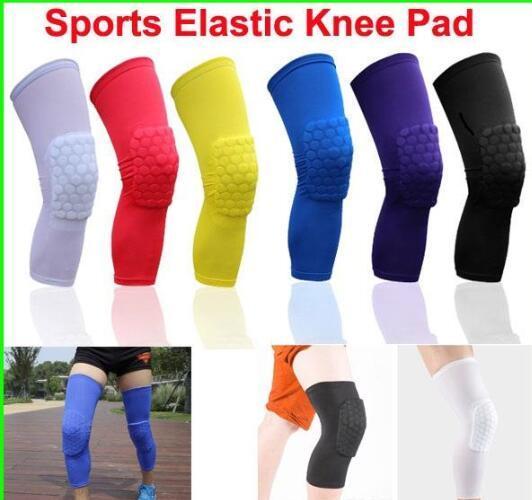 Honeycomb Sock Sport Safety Basketball Sports Rodillera acolchada Rodillera Compresión Knee Sleeve Protector Rodilleras
