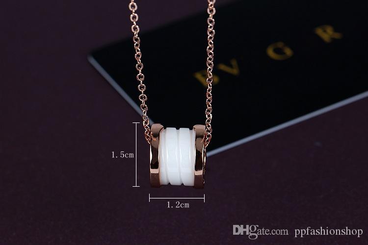2018 nova Moda colares, pingentes, pingentes, parafuso de cerâmica Ms. all-match única personalidade jóias atacado FRETE GRÁTIS