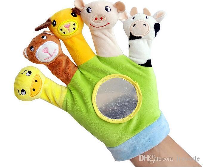 Animal Plush Hand Puppet Doll Toys Farm Finger Puppet Kids Toys Marionette