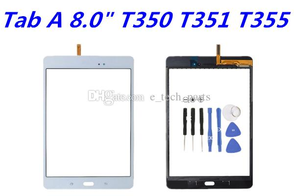 logo sayısallaştırıcı / ile Samsung Galaxy Tab A 8.0 T350 T351 T355 için Teyp Dokunmatik Ekran Digitizer Cam Lens