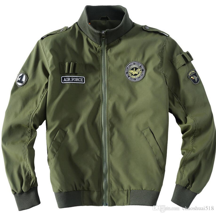 Yeni askeri üniforma ceket İnce adam han baskı tarzı yaka ceket, büyük metre