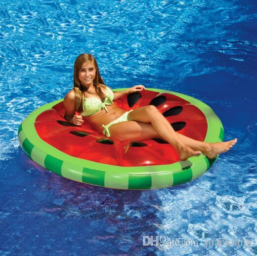 2016 160 cm red inflatable pool float toys watermelon water sports inflatable floating raft floating leisure pvc bed floating row