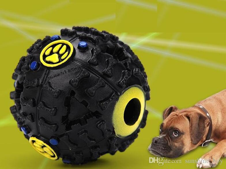 2018 Hot Pet Puppy Sound ball leakage Food Ball sound toy ball Pet Dog Cat Squeaky Chews Puppy Squeaker Sound Pet Supplies Play
