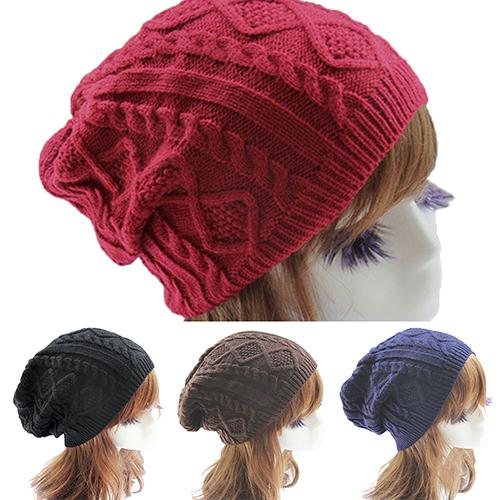 cb8d9e4d12a Wholesale 2016 Top Quality Lady Women S Knit Winter Warm Crochet Hat  Braided Baggy Beret Beanie Cap 7FH4 7NMZ Hats And Caps Beany From Haydena