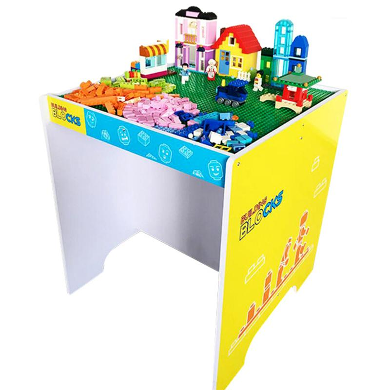 Superior Block Table With Baseplate Creative Brick Table Assembled Particle Building  Blocks Educational Toy For Kids Compatible With Brand Blocks Legoblocks  Legosite ...