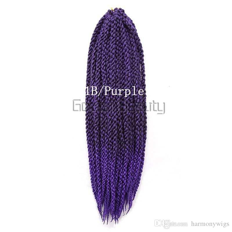 120g 22inch trança cúbica trança de cabelo trança de crochê Havana Mambo senegalês torção extensões de cabelo mais cores
